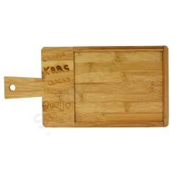 Deska bambusowa z łupkiem