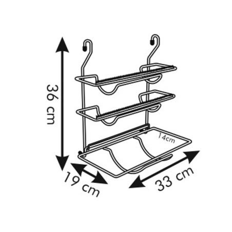Uchwyt na folię i ręczniki papierowe - Tescoma