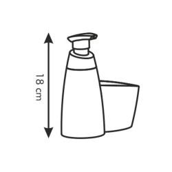 Dozownik do detergentów z miejscem na gąbkę Tescoma