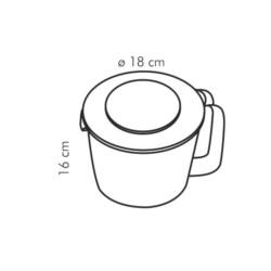 Miarka kuchenna z pokrywą 2,5 L - Tescoma