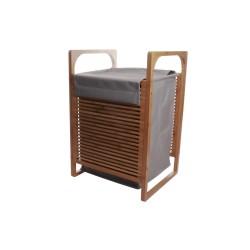 Kosz na pranie - bambusowy z wiszącą torbą.