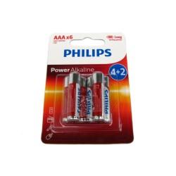 Bateria Philips Power AAA 1,5V 4+2
